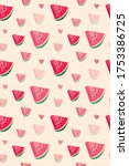 seamless pattern of slices of... | Shutterstock .eps vector #1753386725
