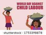 stand against the child labour  ... | Shutterstock .eps vector #1753398878