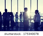 group of people shaking hands... | Shutterstock . vector #175340078