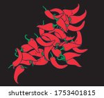 chili vector and chili sauce    Shutterstock .eps vector #1753401815