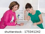 two women working together at... | Shutterstock . vector #175341242
