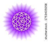 sahasrara icon. the seventh...   Shutterstock .eps vector #1753435058