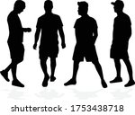 silhouettes of a man  concept... | Shutterstock .eps vector #1753438718