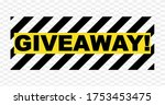 giveaway poster with abstract... | Shutterstock .eps vector #1753453475