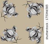 graphic flower ornament | Shutterstock .eps vector #175346585