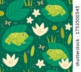 Green Lake Or Swamp. Toads ...