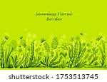 background with seamless border ... | Shutterstock .eps vector #1753513745