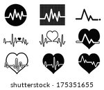 heartbeat icons | Shutterstock .eps vector #175351655