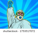 a doctor in a full protection... | Shutterstock .eps vector #1753517072