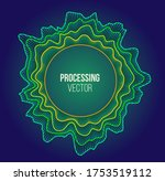 vector sound wave. processing... | Shutterstock .eps vector #1753519112