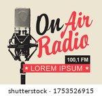 on air radio broadcasting fm... | Shutterstock .eps vector #1753526915