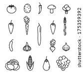 icon vegetables set | Shutterstock .eps vector #175359392