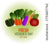 fresh veggie day vector... | Shutterstock .eps vector #1753607762