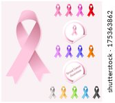 illustration of breast cancer ... | Shutterstock .eps vector #175363862