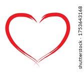 hand drawn heart vector... | Shutterstock .eps vector #1753643168