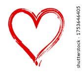 hand drawn heart vector... | Shutterstock .eps vector #1753646405