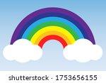 vector image of a rainbow in... | Shutterstock .eps vector #1753656155