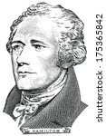 -,10,alexander,american,closeup,color,culture,currency,dollar,engraved,face,finance,gravure,great,hamilton