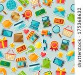 internet shopping seamless... | Shutterstock .eps vector #175368632