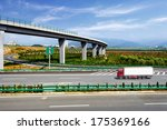 highway and viaduct under the... | Shutterstock . vector #175369166