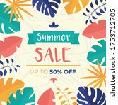 eye catching summer sale mobile ... | Shutterstock .eps vector #1753712705