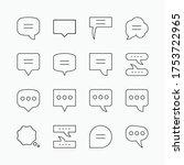 set of speech bubble icon vol.2   Shutterstock .eps vector #1753722965