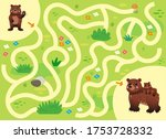 help the little lost bear find... | Shutterstock .eps vector #1753728332