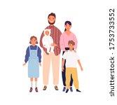 smiling big family portrait... | Shutterstock .eps vector #1753733552