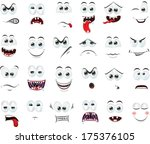cartoon faces with emotions | Shutterstock .eps vector #175376105
