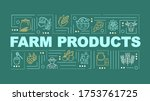 farm product word concepts...