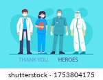 thank you to the doctors and... | Shutterstock . vector #1753804175