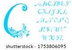 full abc alphabet letter set of ... | Shutterstock . vector #1753806095