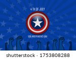 4th of july greeting card with... | Shutterstock .eps vector #1753808288