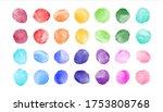 watercolor spots  uneven... | Shutterstock .eps vector #1753808768