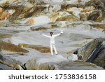 Astronaut Female Wearing White...