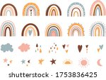 cute rainbow illustrations and...   Shutterstock .eps vector #1753836425