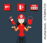 Fire Safety Sign Vector...