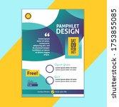 flyer pamphlet template design... | Shutterstock .eps vector #1753855085