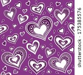 pattern with hearts. you can... | Shutterstock . vector #175385576