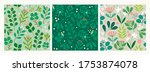 various branches  flowers ... | Shutterstock .eps vector #1753874078