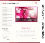 nice website template  easy all ...   Shutterstock .eps vector #175392035