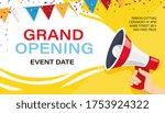 grand opening banner template.... | Shutterstock . vector #1753924322