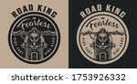vintage motorbike round emblem... | Shutterstock .eps vector #1753926332