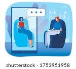 psychologist online  phone ... | Shutterstock .eps vector #1753951958