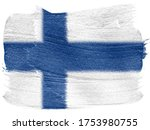 finland. suomi flag painted on... | Shutterstock . vector #1753980755