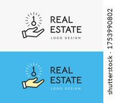vector real estate logo design... | Shutterstock .eps vector #1753990802