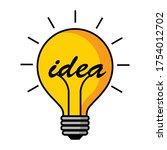 light bulb idea innovation...   Shutterstock .eps vector #1754012702