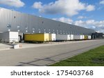 exterior of a large warehouse... | Shutterstock . vector #175403768