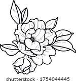 decorative element tattoo art...   Shutterstock .eps vector #1754044445