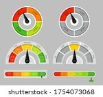 productivity meter. diagram of... | Shutterstock .eps vector #1754073068